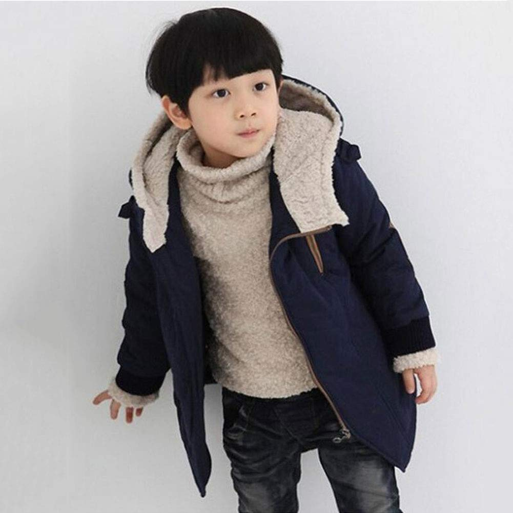LSERVER Baby Girl Boy Toddler Stylish Winter Down Jacket Cute Hooded Coat Warm Outerwear