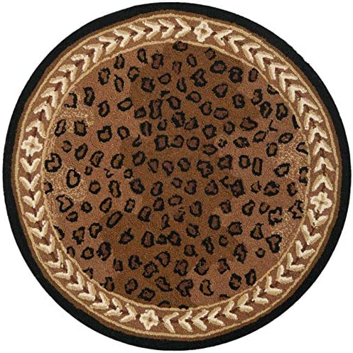 Safavieh Chelsea Black Brown Round Rug