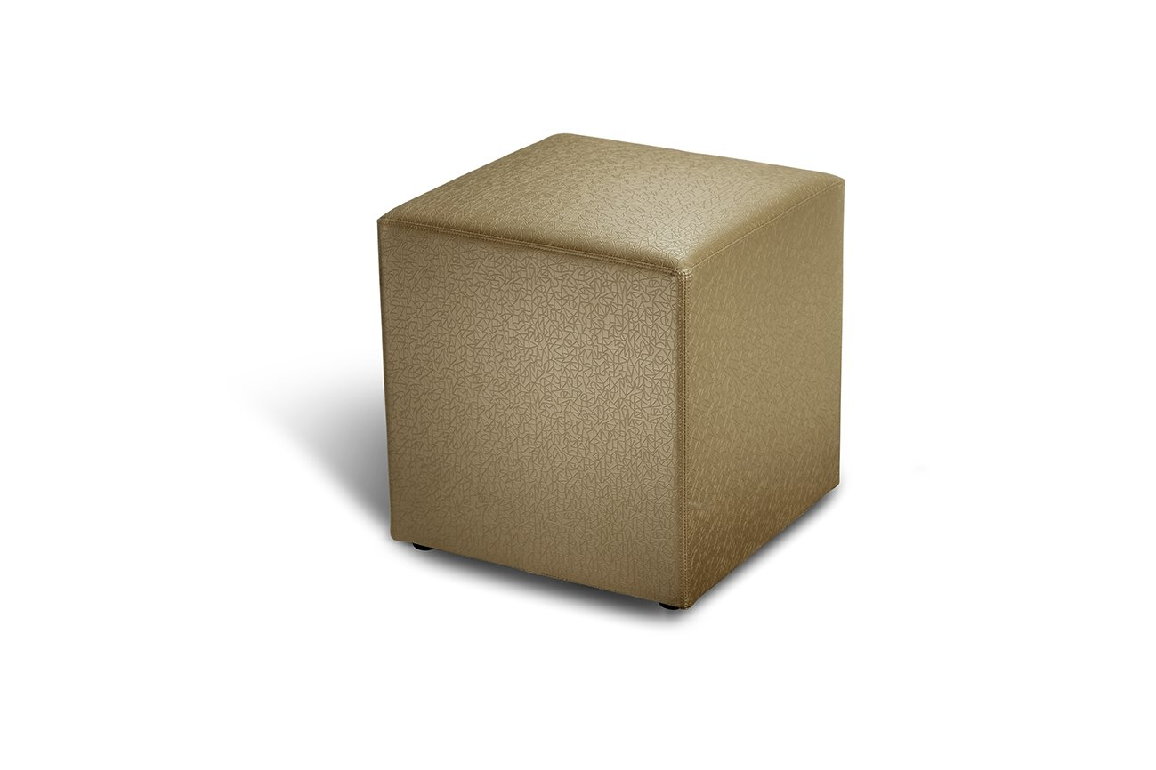 Logic Furniture CUBEXTP18 Cube Ottoman, Taupe
