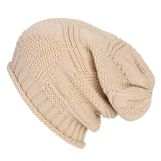 54d3823cf40 TWGONE Womens Knit Cap Baggy Warm Crochet Winter Wool Ski Beanie Skull Slouchy  Hat(One Size