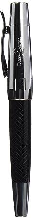 Faber-Castell 148242 - Füllfederhalter e-motion Edelharz Parkett, Feder: EF, inklusive Geschenkverpackung, Schaftfarbe: schwa