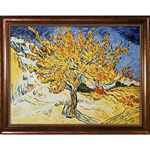OverstockArt 1889 Vincent Van Gogh The Mulberry Tree 30-Inch by 40-Inch Framed Oil on Canvas
