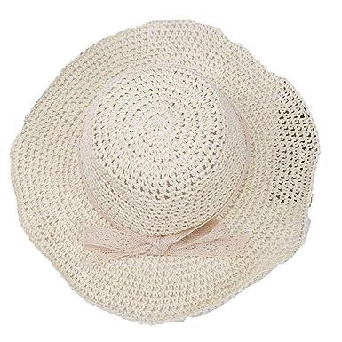 Sombrero de Paja de Verano para Mujer Sombrero de Paja ...