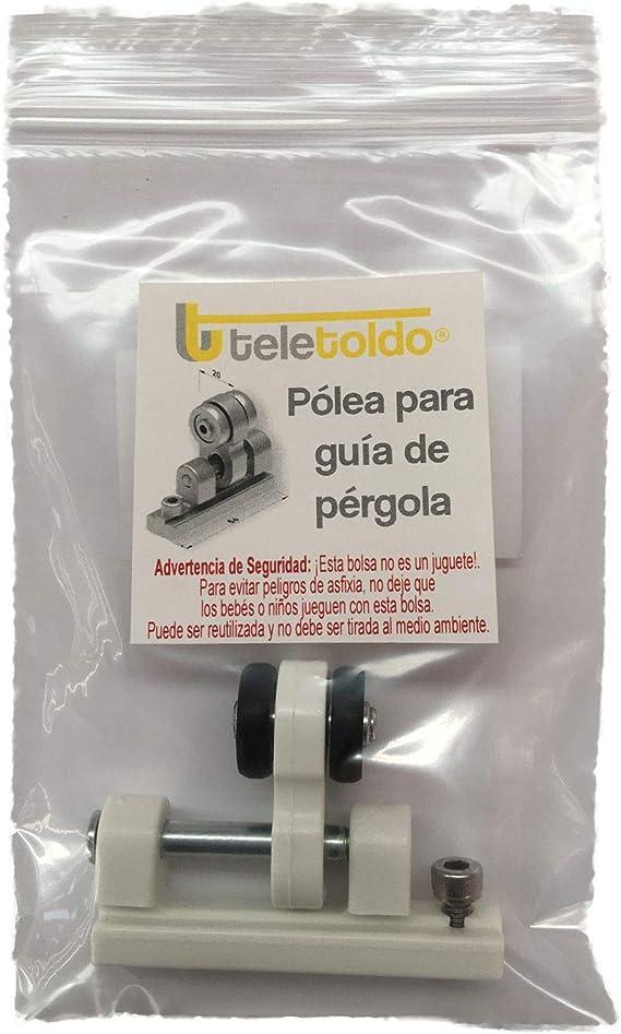 Teletoldo Polea para guía de pérgola (Repuesto) (Negro): Amazon.es ...