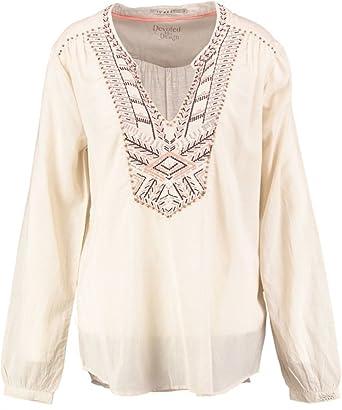 10 feet Blusa de algodón Viscosa Natural Beige XL: Amazon.es: Ropa ...