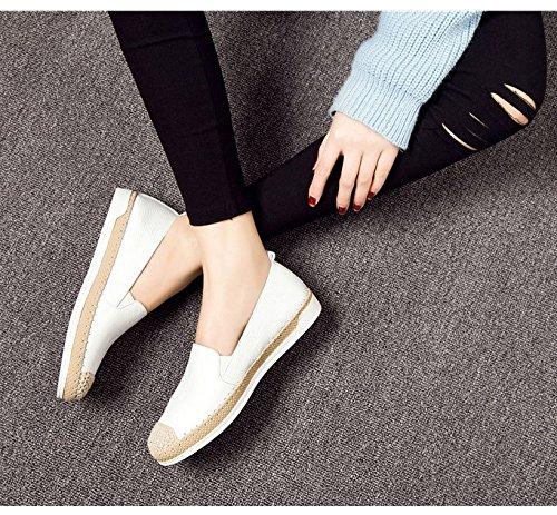 Zapatos planos de cuero/Zapatos del ocio perezoso B