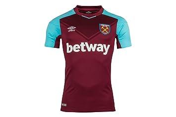 Umbro 77512U West Ham Home 2017 Camiseta, Hombre, Rojo, Medium: Amazon.es: Deportes y aire libre