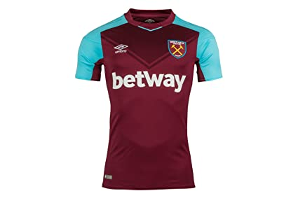 Umbro 77512U West Ham Home 2017 Camiseta, Hombre, Rojo, Medium