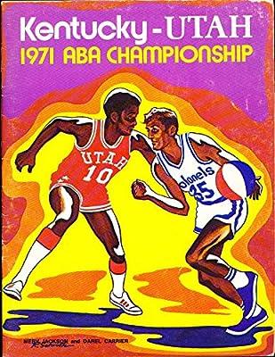 1971 Kentucky Colonels vs Utah stars ABA championship basketball program