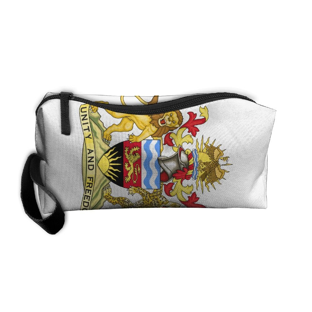 HSs4AD Coat Of Arms Of The Malawi Cosmetic Bag Travel Toiletry Bag Portable Makeup Pouch Hanging Organizer Bag
