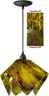 product image for Jezebel Signature Flame Pendant Large. Hardware: Black. Glass: Treebark