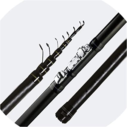 Outdoor Travel 4.5M 10 Sections Retractable Fish Pole Rod Teal for Fishing