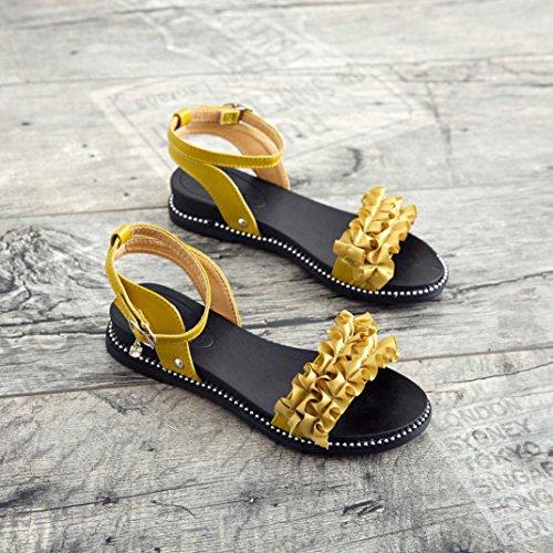 Aldaba por Punta WINWINTOM Chanclas Flor Sandalias Ladera Color Tac 2018 Zapatillas de y Puro Casa Verano Estar redonda Moda Mujer qwSfaZR