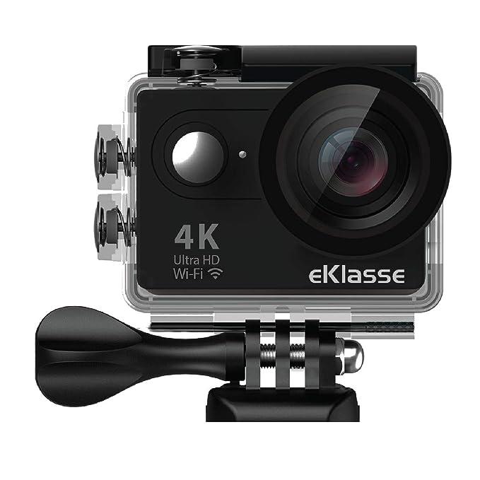 eKlasse EKAC02EG Action Camera 4K Ultra HD, 2  Full HD Display, Wi Fi  Black  Action Cameras