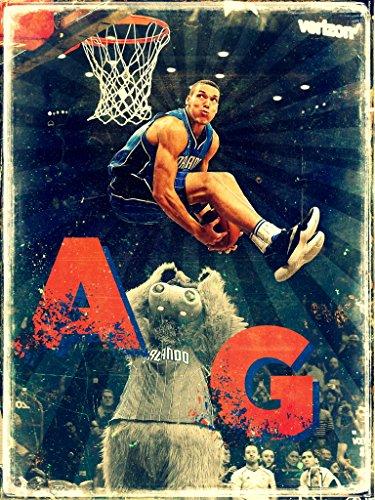 - Aaron Gordon Slam Dunk Contest Mascot Orlando Magic Retro Painting Vintage Art 24x18 Poster Print