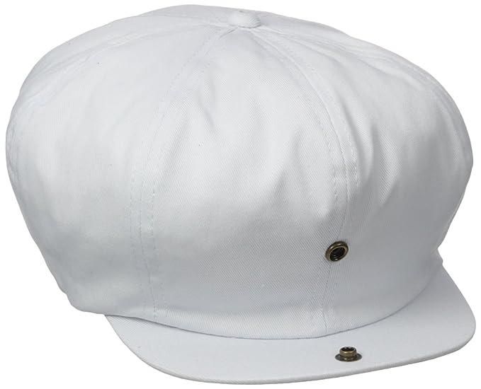 ea918eafddf Dorfman Pacific Co. Men s White Cap 8 4 Panel at Amazon Men s ...