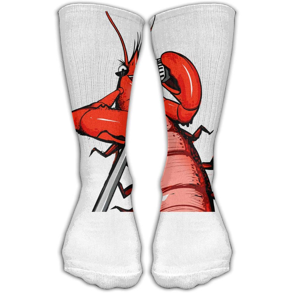 Protect Wrist For Cycling Moisture Control Elastic Sock Tube Socks Funny Lobster Singing Athletic Soccer Socks
