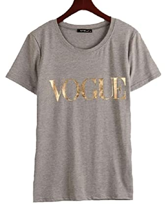8689afbd49f40 Haircloud Women Summer Vogue Letter Printed T-Shirt Casual Top Tees