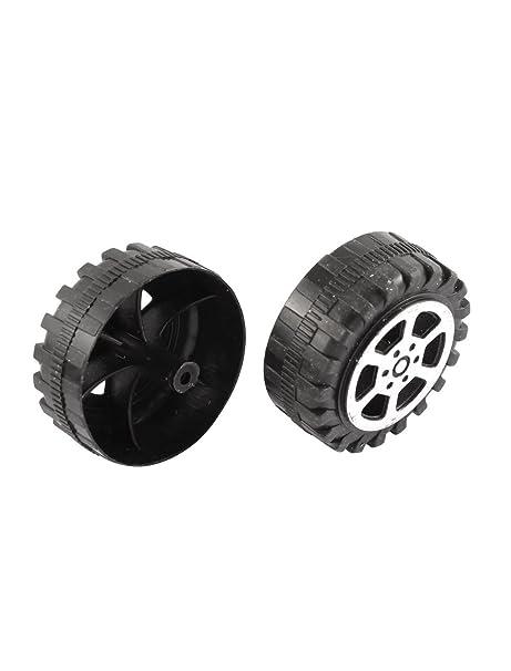 Amazon.com : Rollo de plástico DE 2 mm de diámetro del eje del coche camión Modelo Juguetes de ruedas 20Pcs 38mmx15mm : Baby