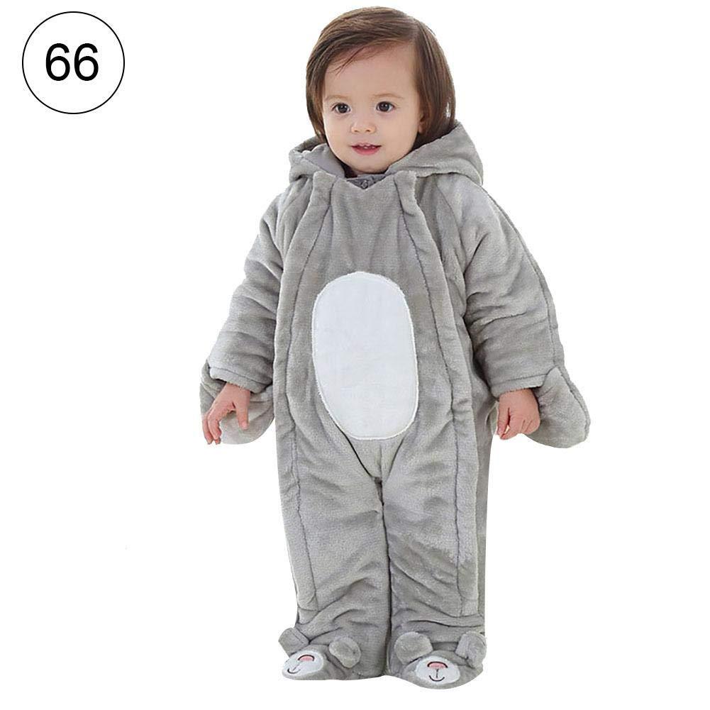 Mignon84Cook Unisex Baby Winter verdickte Bodysuits, Tierform Flanell Bunting Outfits Neugeborenen Overall Baby Kleidung Strampler