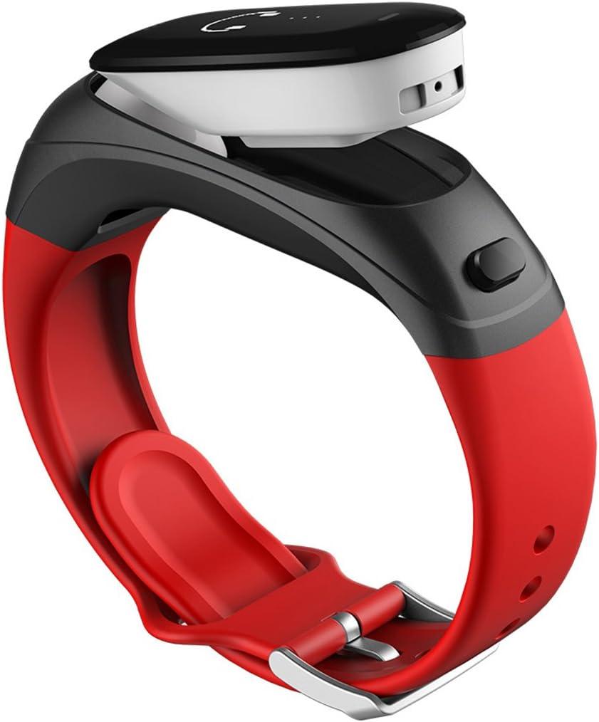 NSHK Business Smart Sports Watch 2 En 1 (Pulsera Y Auricular Bluetooth) Voice Dial Pulsera Presión Arterial Monitor De Ritmo Cardíaco Fitness Tracker