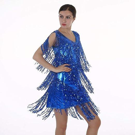 LDH Vestido clásico del Baile Latino de la Falda del Brillo de la ...