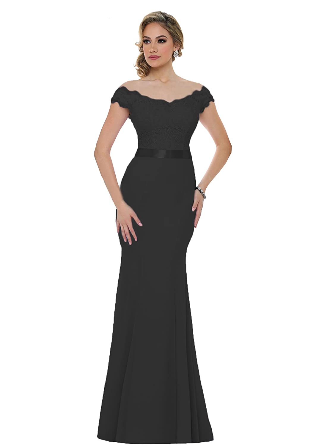 e768d153c8 Beauty Bridal V-Neck Off Shoulder Mermaid Bridesmaid Dresses Long Prom Gown  2018 S015 at Amazon Women s Clothing store