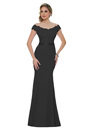 Beauty Bridal Womens 2018 Long Mermaid Bridesmaid Dress Off Shoulder Sequins Evening Prom Dresses S015 (
