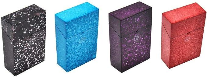 Transer- Estuche para Caja de Cigarrillos, Starry Sky, de plástico Abierto, para Cajas de Almacenamiento de Tabaco, 20 Piezas, Cigarrillos de 85 mm: Amazon.es: Hogar
