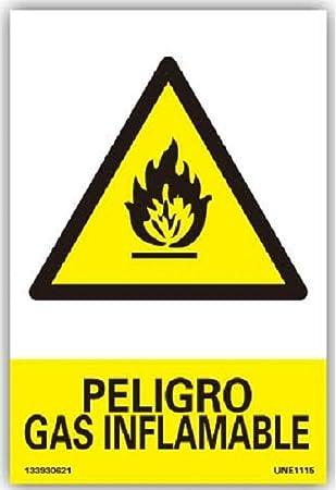 NUEVA SEÑAL PREVENCION CARTEL AVISO PELIGRO GAS INFLAMABLE ...