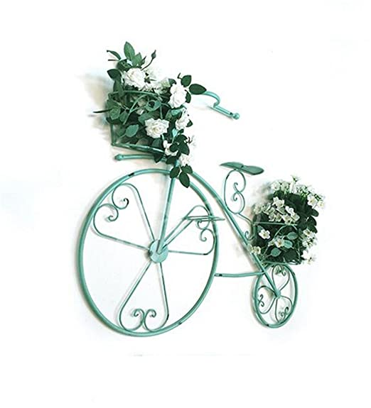 Retro de hierro de bicicleta decorativas flor de rack de pared ...