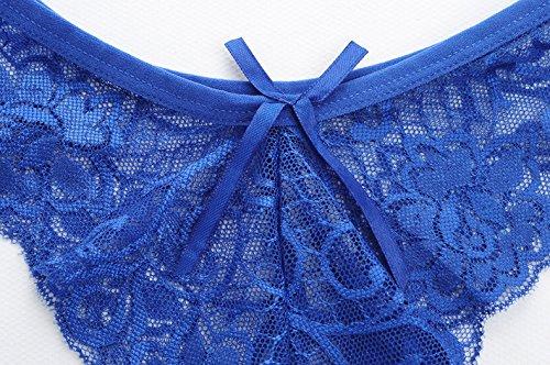 Culotte Femme Mme Sous-vêtements dentelle vide Courage impression de transparence de la femme sous-vêtements String , Low-Rise Coin 3 blanc Pantalon