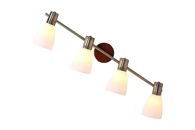 Moderna applique da parete a luci e materiale metallo vetro