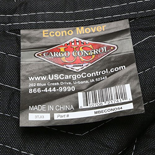 "Moving Blanket (24-pack) 72"" X 80"" US Cargo Control - Econo Mover (108 lbs/2 dozen, Black/Black)"