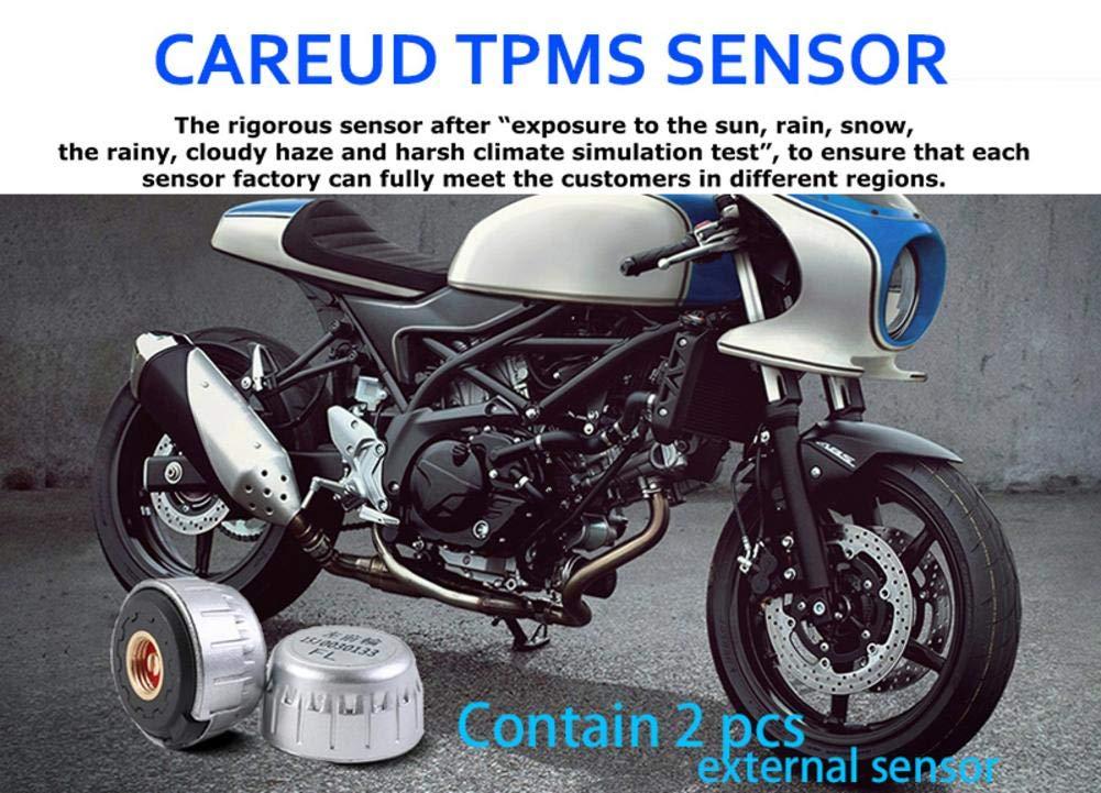 Pepional Manometro Digitale per Pneumatici Sistema di monitoraggio Pressione Pneumatici per Moto Protezione Solare Super Impermeabile Tpms System M3 TPMS approving