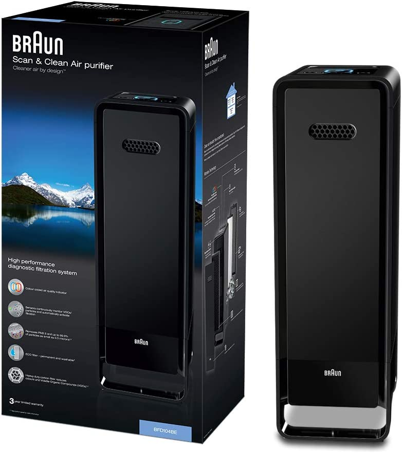 Braun Scan & Clean Air BFD104BE - Purificador de aire (alergia ...