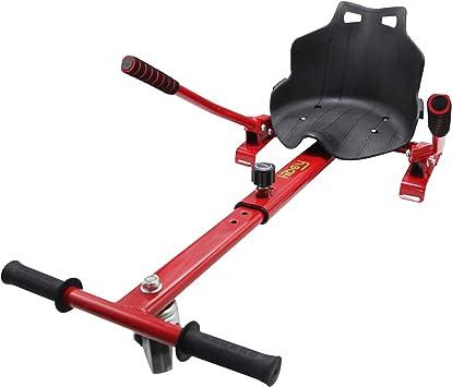 Hiboy 8435518000358 Asiento, Silla de Hoverboard Self Balancing Compatible con Todos los Patinetes Eléctricos de 6.5, 8 y 10 Pulgadas, Niños, Kart Rojo: Amazon.es: Deportes y aire libre