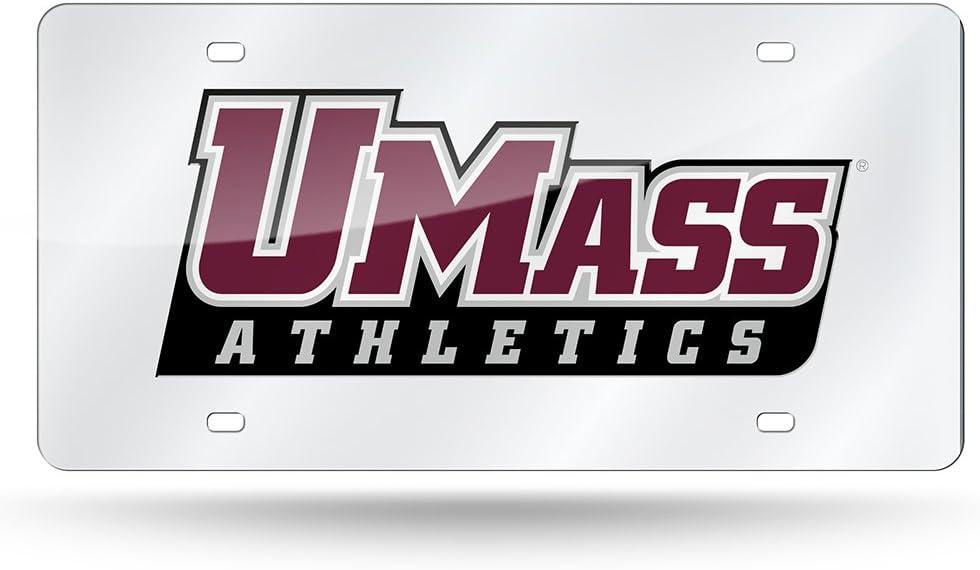 Rico NCAA Massachusetts Minutemen Laser Cut License Plate Silver