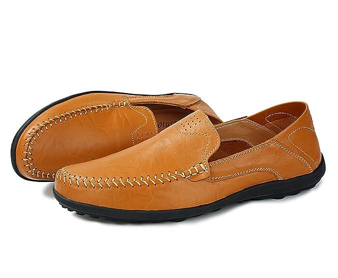 SK Studio Homme Cuir Mocassins Fait Main Doux Conduite Chaussures Grande  Taille Plage Flaneurs: Amazon.fr: Chaussures et Sacs