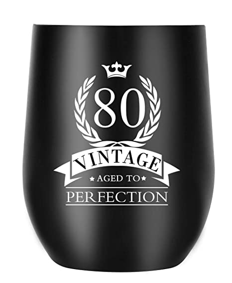 80th Birthday Gifts For Women Men Aged To Perfection Insulated Coffee Mug Her Him