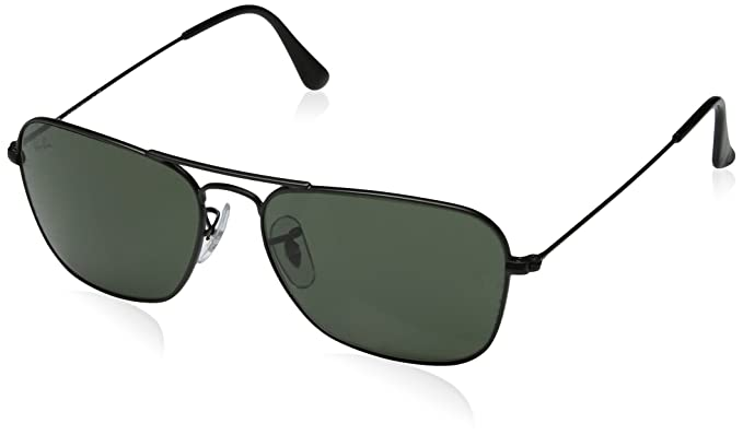 b0faf0ffcf Image Unavailable. Image not available for. Color  Ray-Ban Men s Caravan  Rectangular Sunglasses ...