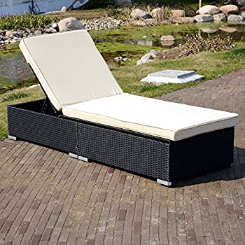 Amazon.com: walcut Patio mimbre Rattan muebles al aire ...
