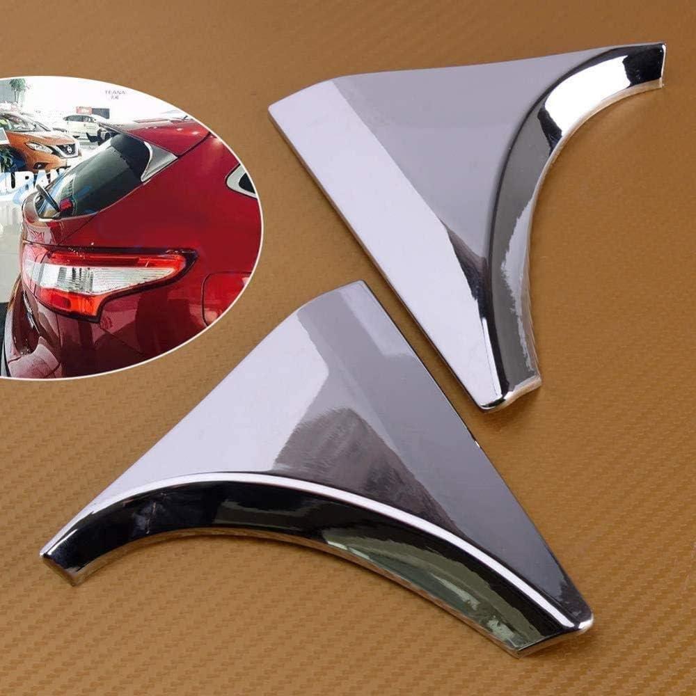 XKCCHW Juego de 2 embellecedores cromados para aler/ón trasero para Nissan Qashqai J11 2014-2018
