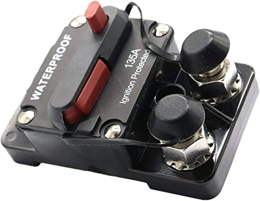 135A IP67 Waterproof Manual Reset Car Boat Marine Circuit Breaker Switch
