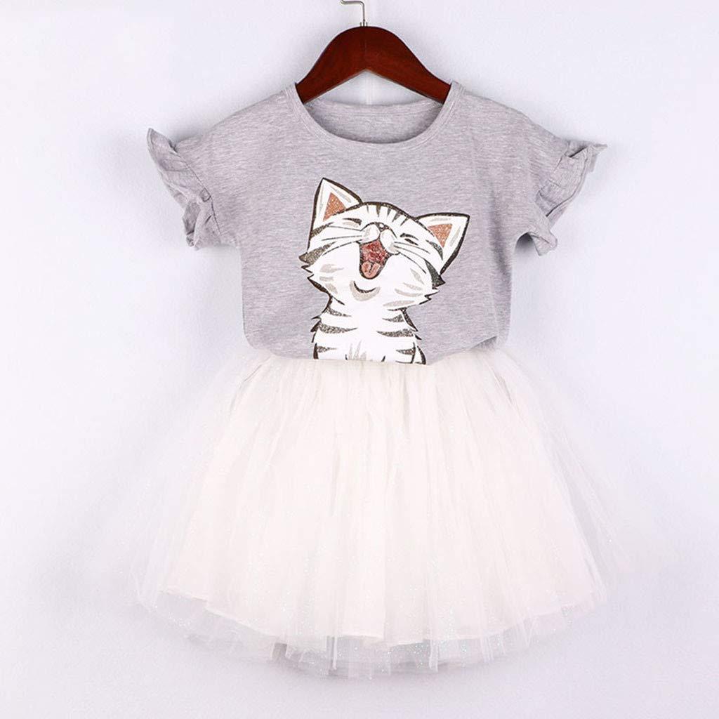 2pcs Newborn baby clothes girls dress+hat set Princess baptism party TUTU dress