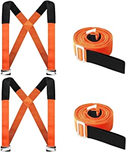 Moving Straps, 2 Person Furniture Shoulder Lifting Straps and Moving System, Easily Move, Lift, Carry Furniture, Mattress, Appliance, Heavy Object Without Back Pain. Great Tool for Moving Supplies
