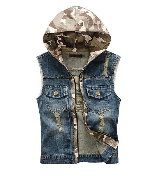 Jean Sans Capuche À Homme Veste Manches Gilet 805 Outwear C6qYgw
