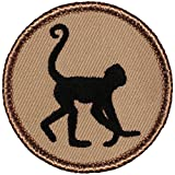 "Spider Monkey Silhouette Patrol Patch - 2"" Diameter"