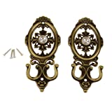 KELER 2 pcs Vintage Oval Curtain Hanger Tie Back