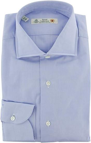 Luigi Borrelli Patterned Button Down Button-Down Collar Cotton Blend Slim Fit Dress Shirt